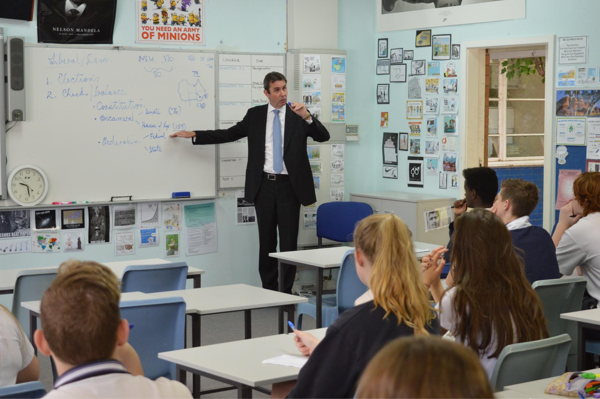 Peter Collier teaching  a class.
