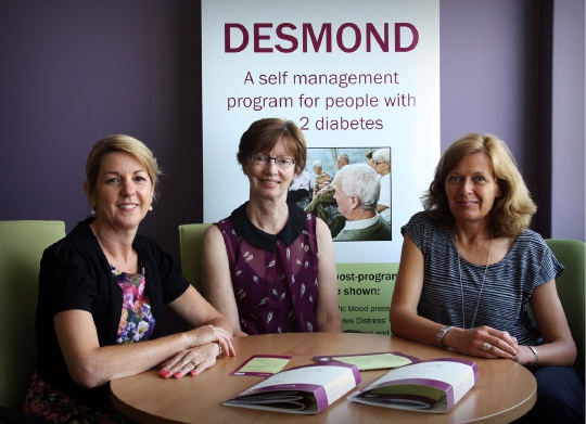 DESMOND facilitators Di Ledger, Sue Stockdale and Kylie Mahony.