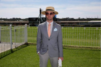 Stylist Mikey Walton took out third place at the inaugural men's Fashions on the Field.