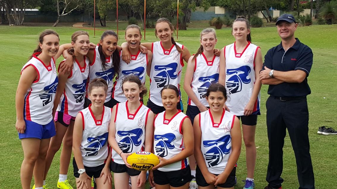 Kwinana Junior Knights inaugural Under-15 girls' team.