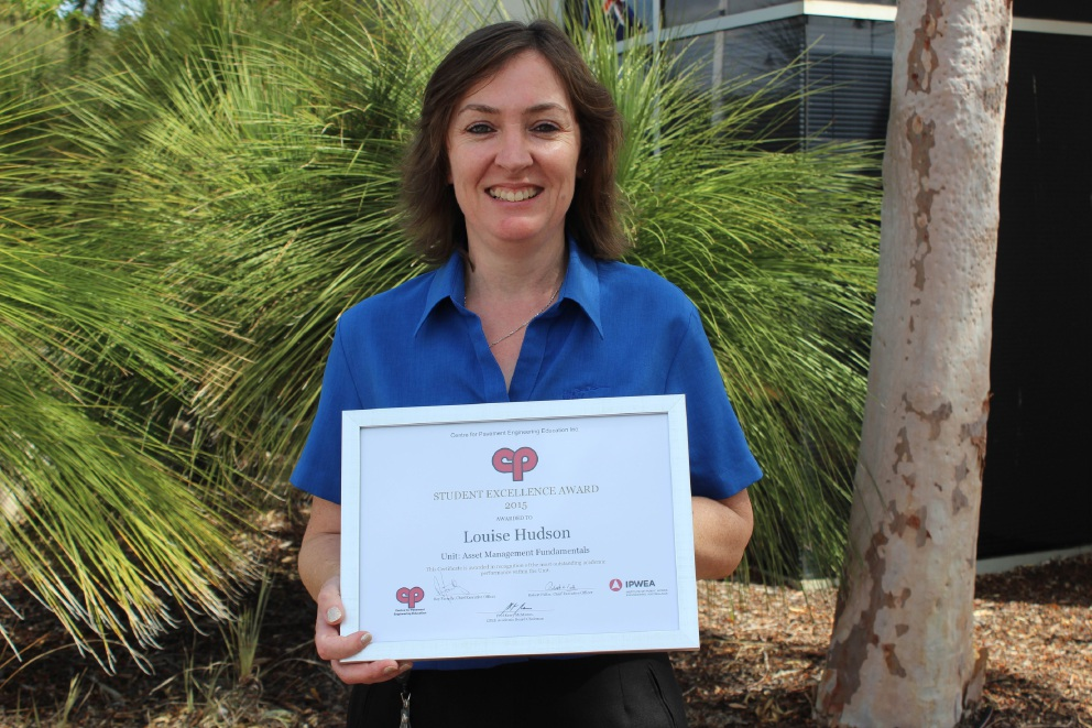 Louise Hudson has been recognised with a CPEE Student Excellence Award.