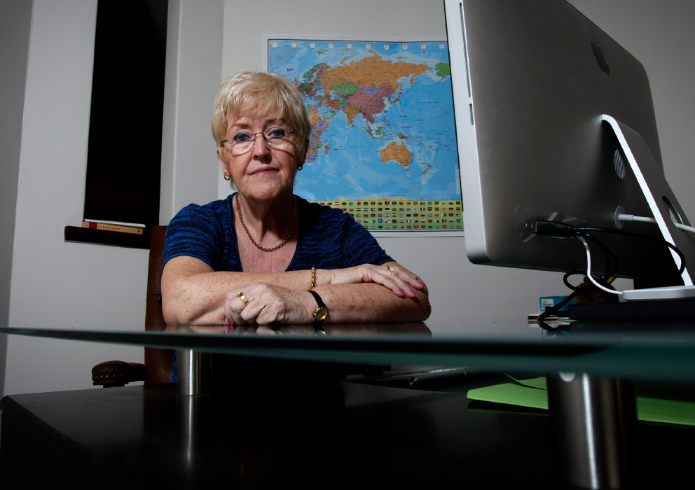 Dot Goulding in her home office in Seville Grove. Picture: Marie Nirme. d451904