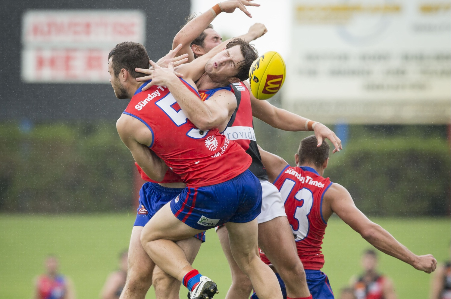 It was a bruising day for West Perth against Perth. Picture: Dan White