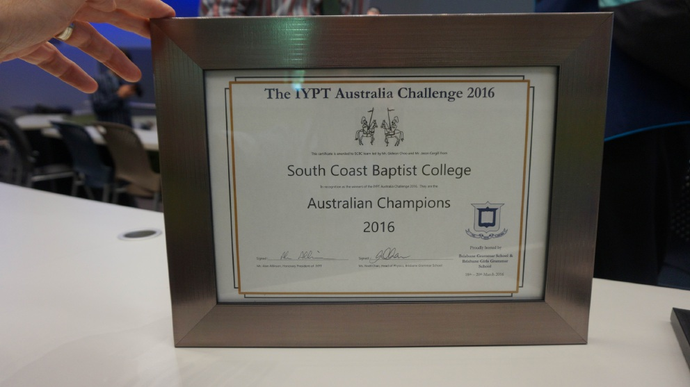 South Coasy Baptist College students win international competition