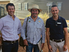 Jeff Pow, Darren Doherty and Luke Rogers at the After the Fire Workshop held in Waroona.