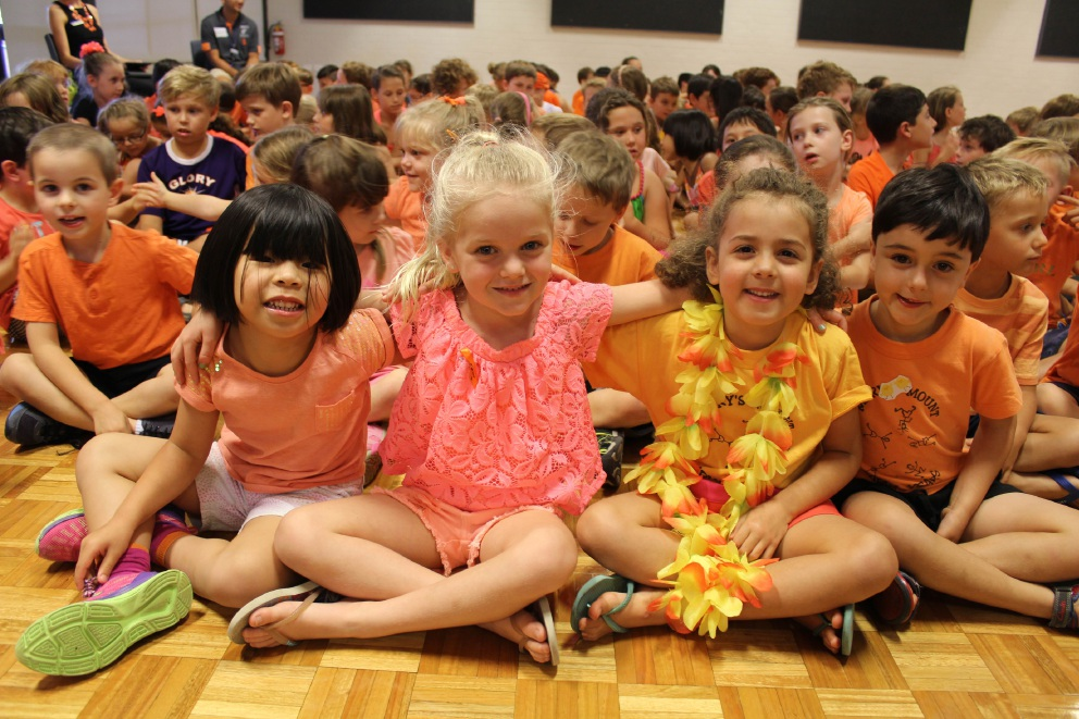Harmony Day at Mary's Mount Primary School symbolised by a single colour