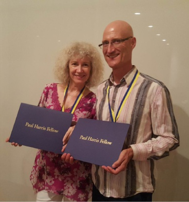Linda and Martin Robinson are Paul Harris Fellowship nominees.