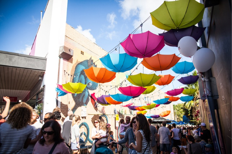 Last year's Mt Hawthorn Streets and Laneways Festival. Picture: Ryan Ammon