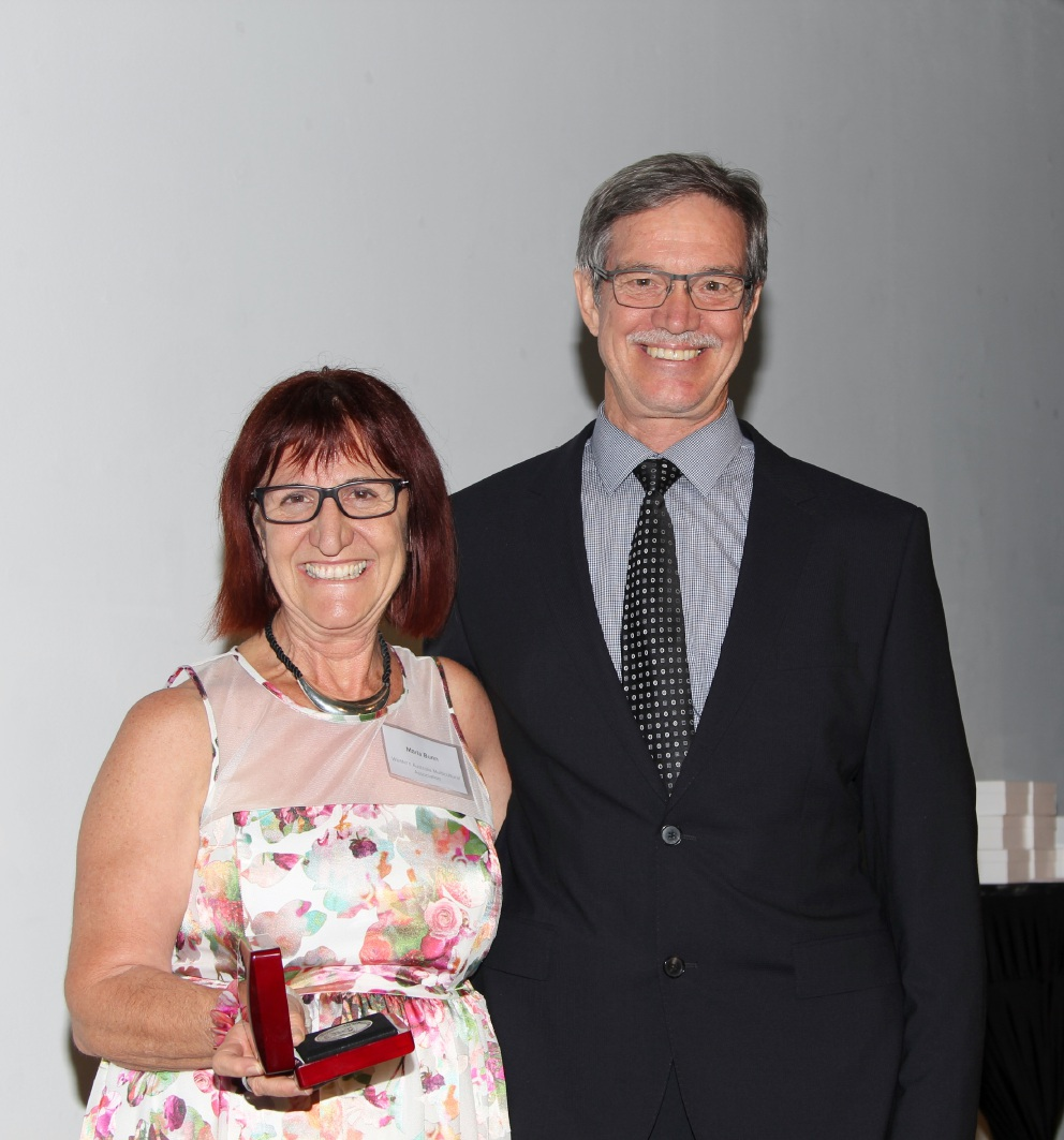 Maria Bunn with Citizenship and Multicultural Interests  Minister Mike Nahan.