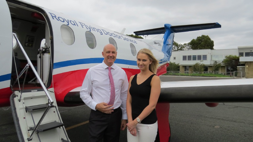 RFDS chief executive Grahame Marshall with Michelle Eales.