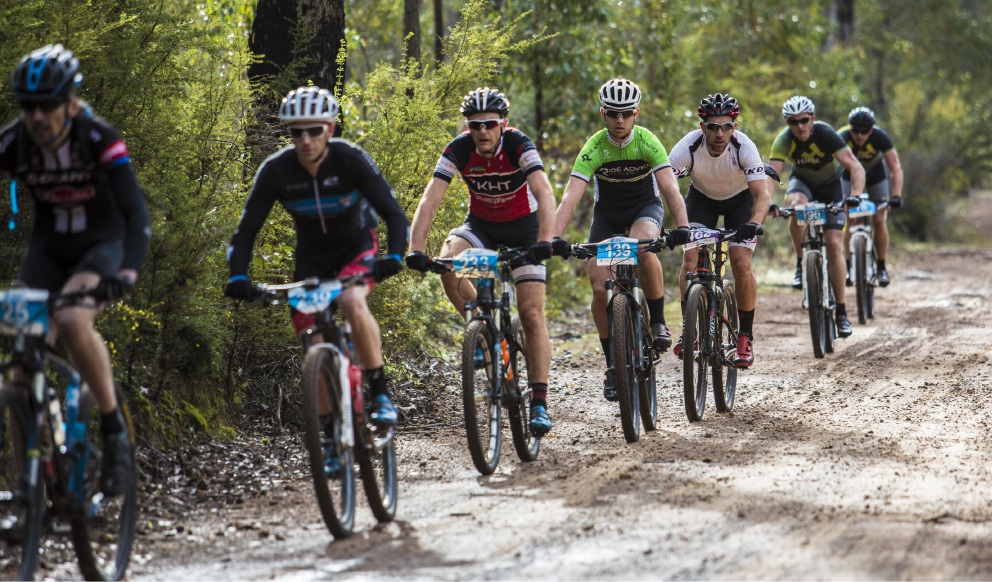Riders in last year's Dwellingup 100 mountain bike event.