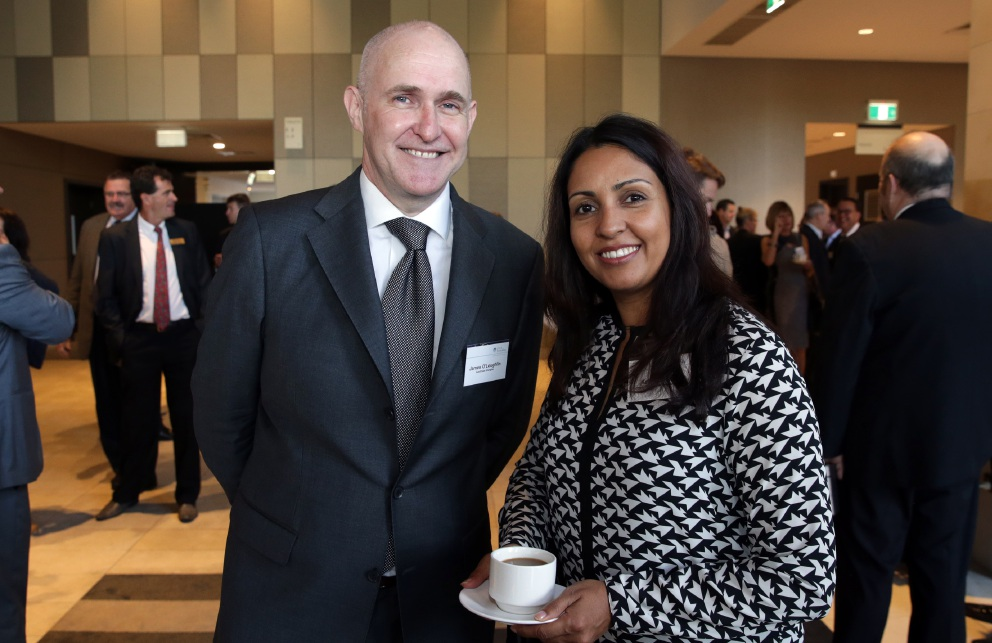 James O'Loughlin and Kay Solanki, of Joondalup Business Association. Picture: Martin Kennealey