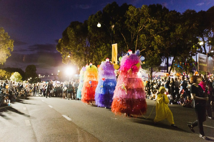 Twilight Lantern Parade. Picture: Jason Eshraghian