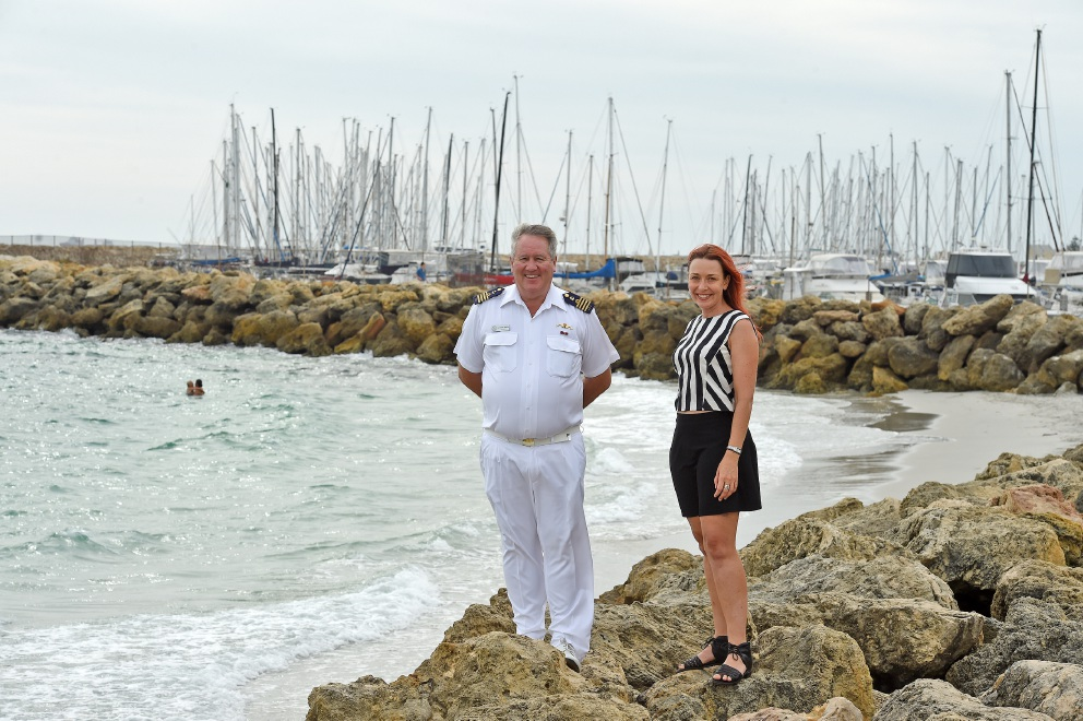 Commodore Terry Baker with Cr Rachel Pemberton. Picture: Jon Hewson           d451620