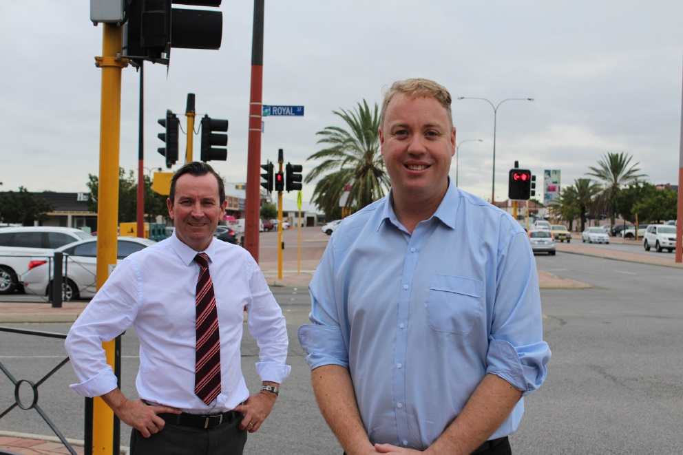 Labor leader Mark McGowan and new candidate David Michael.