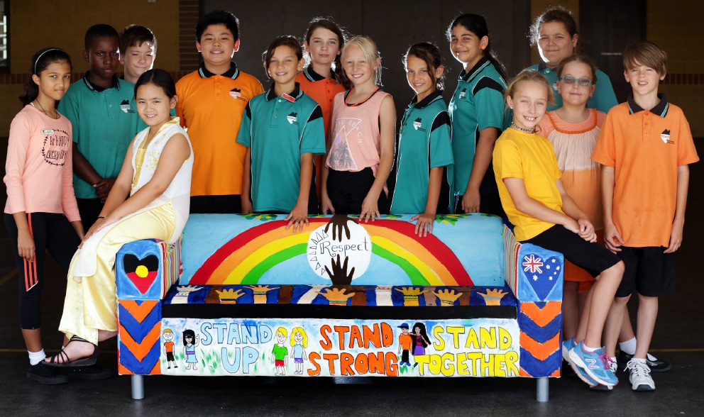 Bullying: Stand up against it. Somerly Primary school students' strong message.  Picture: Martin Kennealey        www.communitypix.com.au   d451597
