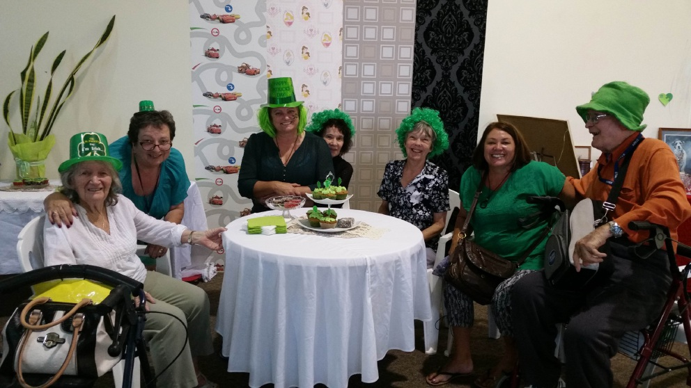 Independent Traders Market visitors enjoyed green scones and muffins and dressed as Irish nymphs for St Patrick's Day.