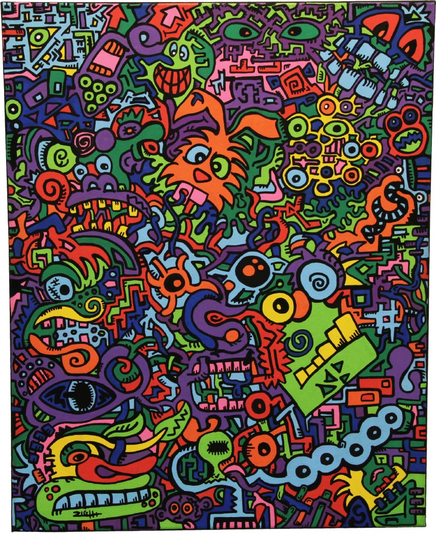 Crooked Chaos, by Ziggy York, took second place in last year's 18-25 years category. York will be running the Posca art group installation workshop.