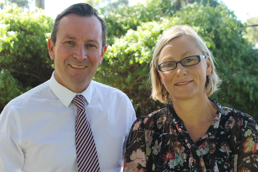 WA Labor Leader Mark McGowan and Melville councillor Lisa O'Malley, who will contest the seat of Bicton.