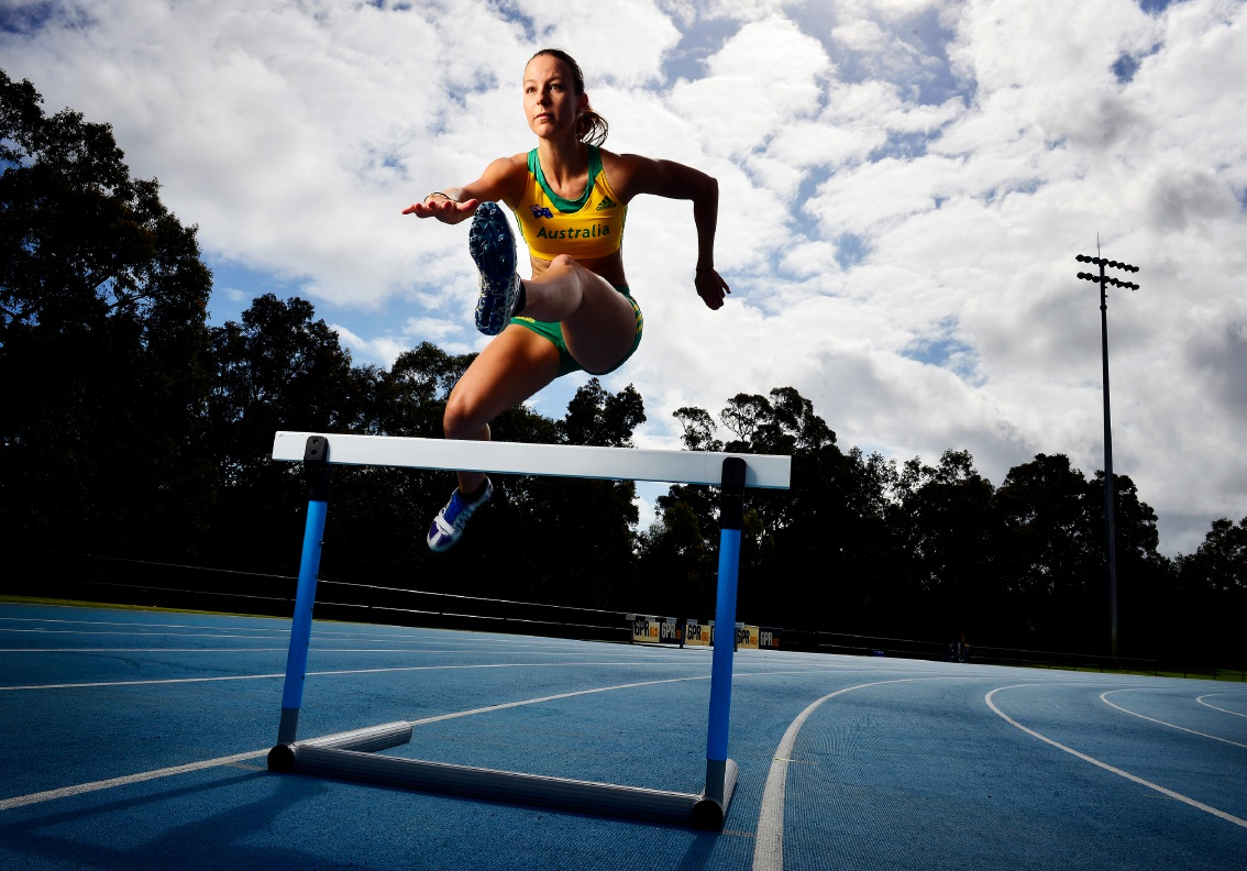 Olympic hopeful Beahan clearing hurdles