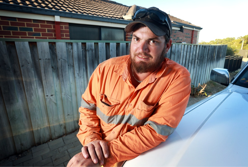 Ricky Bromfield, of Henley Brook, has been awarded a Bravery Medal after he saved a neighbour from his burning apartment in Lockridge in 2013. Picture: David Baylis www.communitypix.com.au   d451129