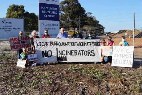 Protesters in October 2014 who unsuccessfully appealed against the location of the Hazelmere facility.