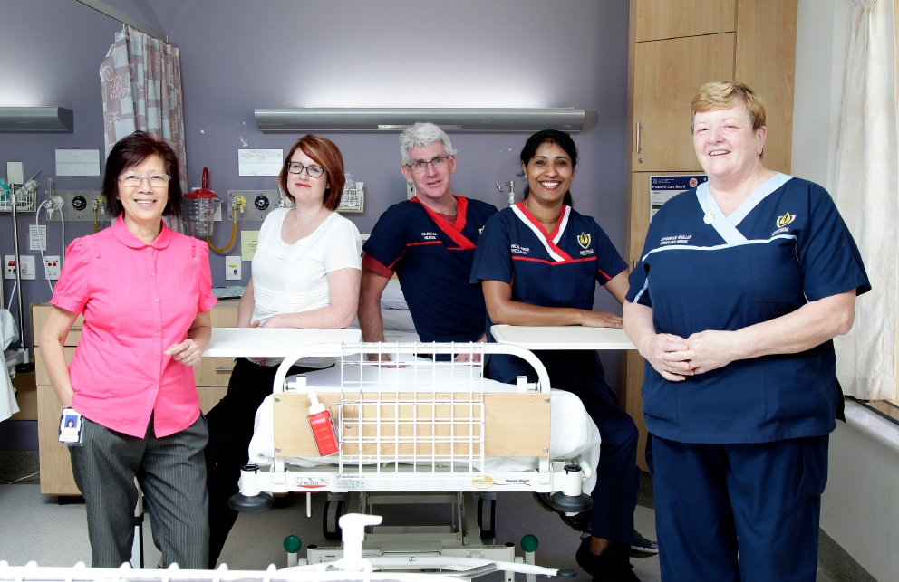 Casey Light (nurse practitioner), Belle Sexton (clinical midwife), Dennis Hammond (clinical nurse), Elsie Joseph (clinical nurse specialist) and Shona Fowler (enrolled nurse) Picture: Marie Nirme d450913