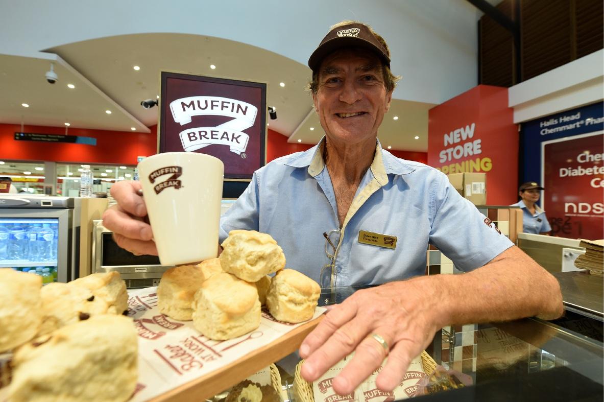 Muffin Break owner Steve Wise.