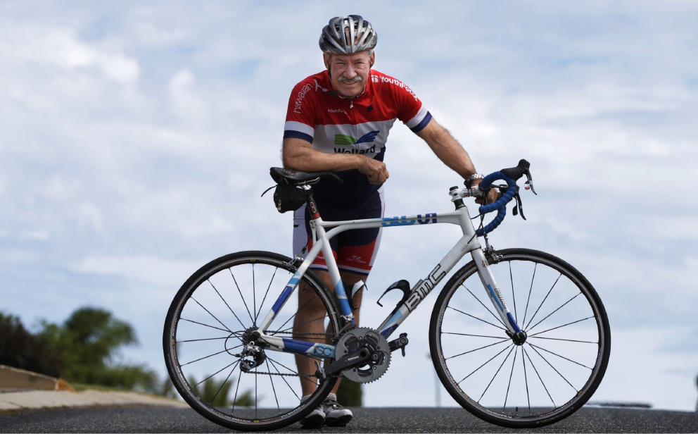 Hillarys' cyclist Phil Cousins oldest in Ride for Youth