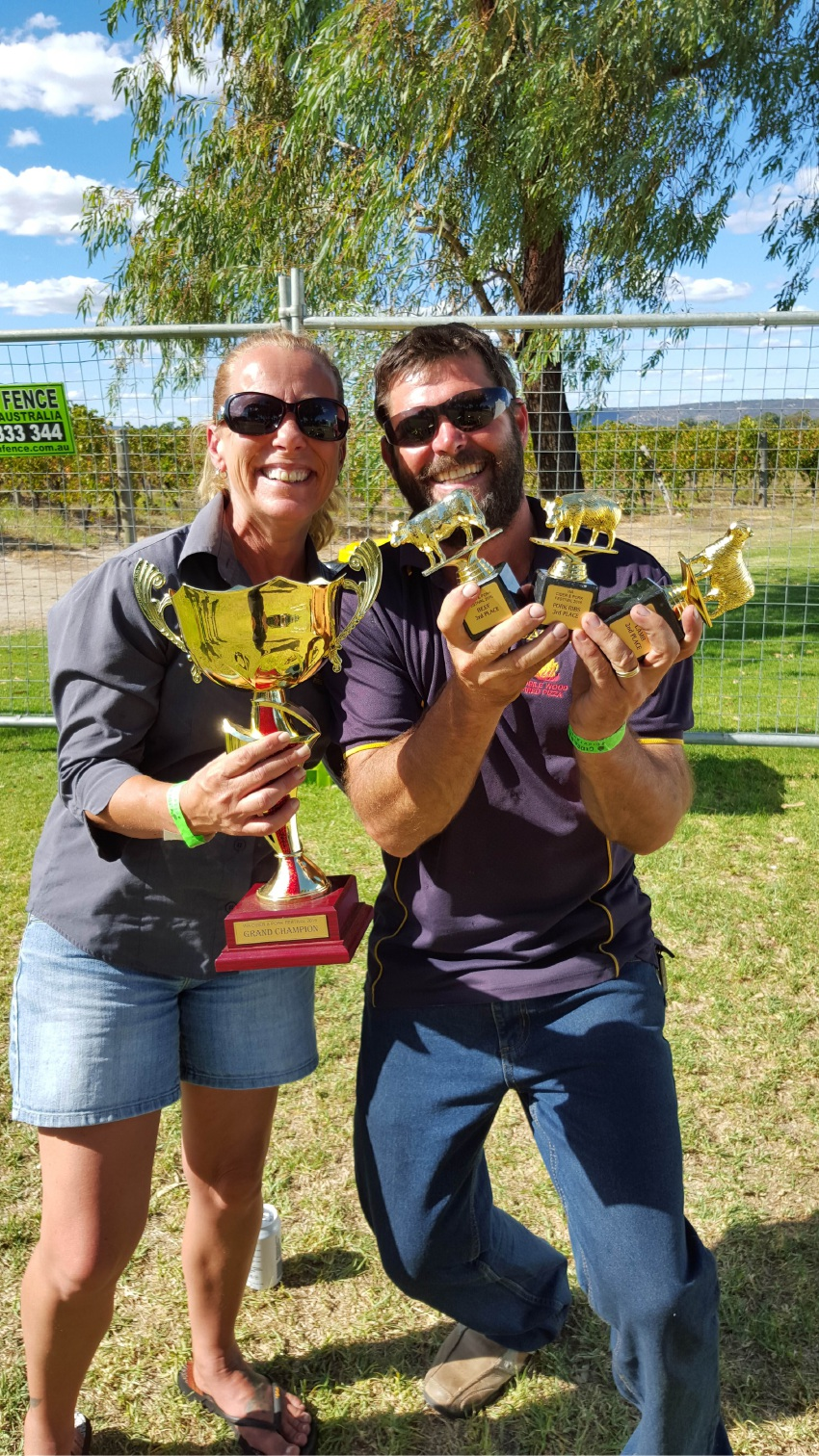 Smoking hot couple win barbecue prizes