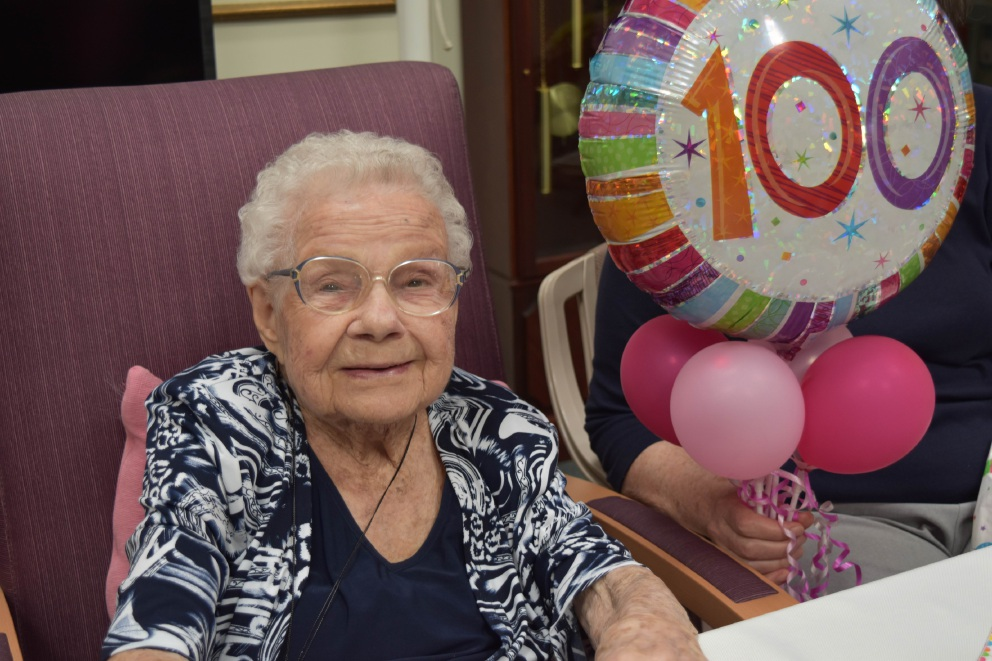 Connie House celebrates her 100th birthday.