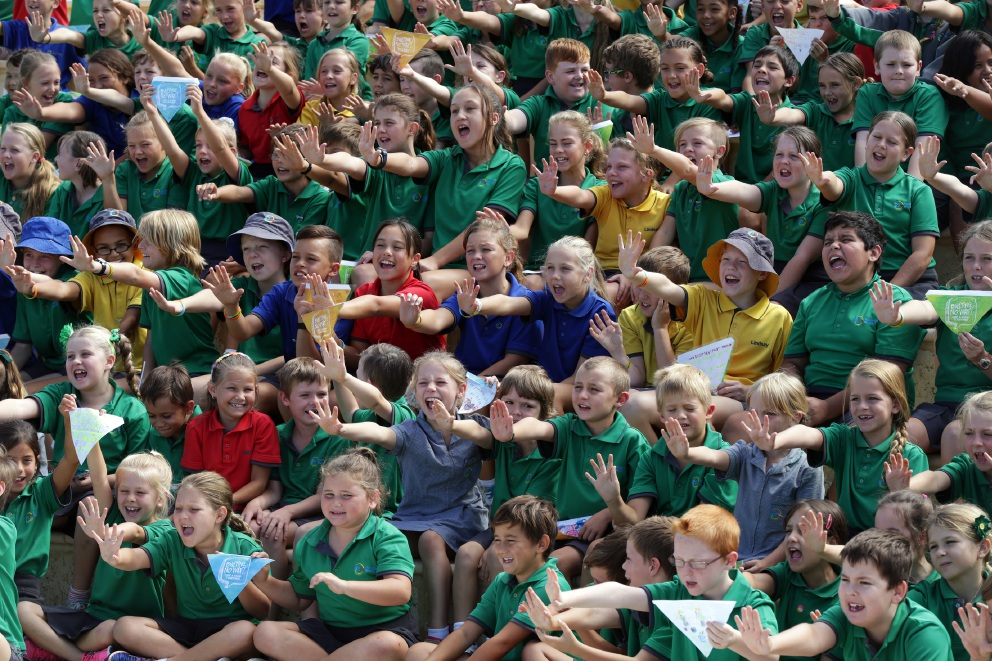 Yanchep Beach Primary School students say no to bullying. Pictures: Martin Kennealey d451297