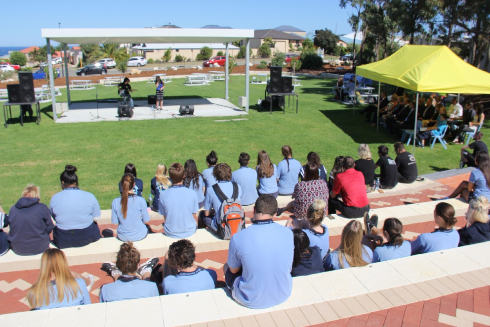 The Mindarie Senior College amphitheatre opening.