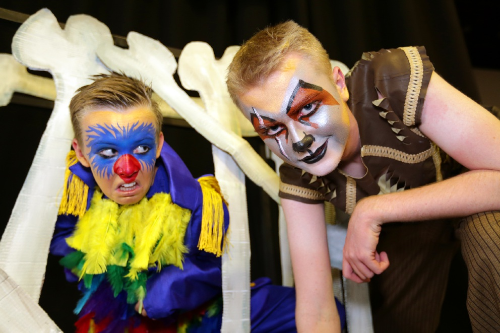 Tyler Jones and Samuel Jones are in Lake Joondalup Baptist College's production of The Lion King JR. Picture: Martin Kennealey  d450506