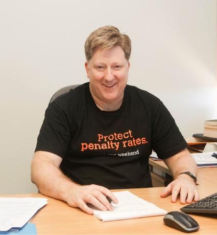 SDA WA branch secretary Peter O'Keeffe.