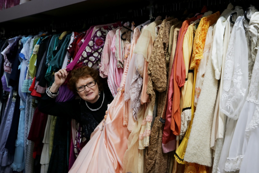 Gail Pether is closing her costume shop.  Picture: Andrew Ritchie  d440245