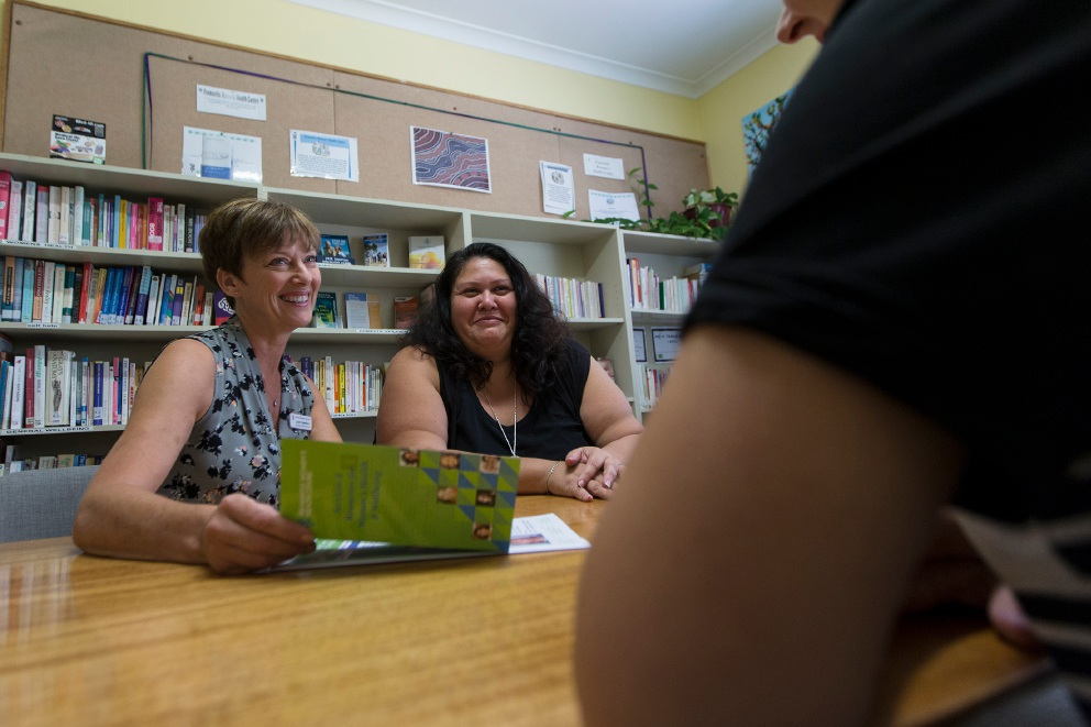 Clinical services manager Dawn Needham with administration assistant Rebecca Cocks. Picture: Will Russell        www.communitypix.com.au   d450760