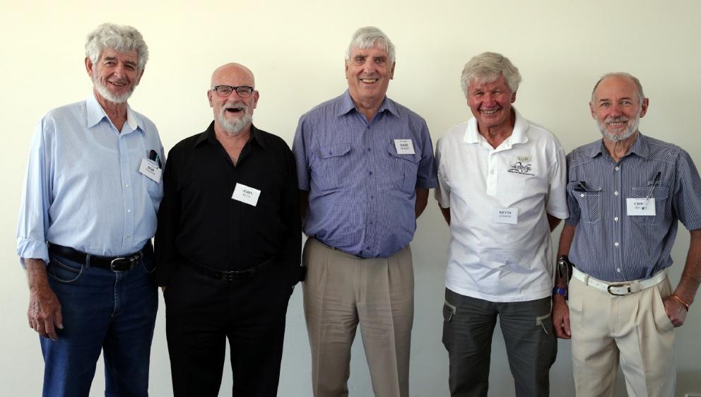 Bob Philpot, John Bath, David Gaubert, Kevin Andrew and Chris Brown. Pictures: Martin Kennealey www.communitypix.com.au   d451082