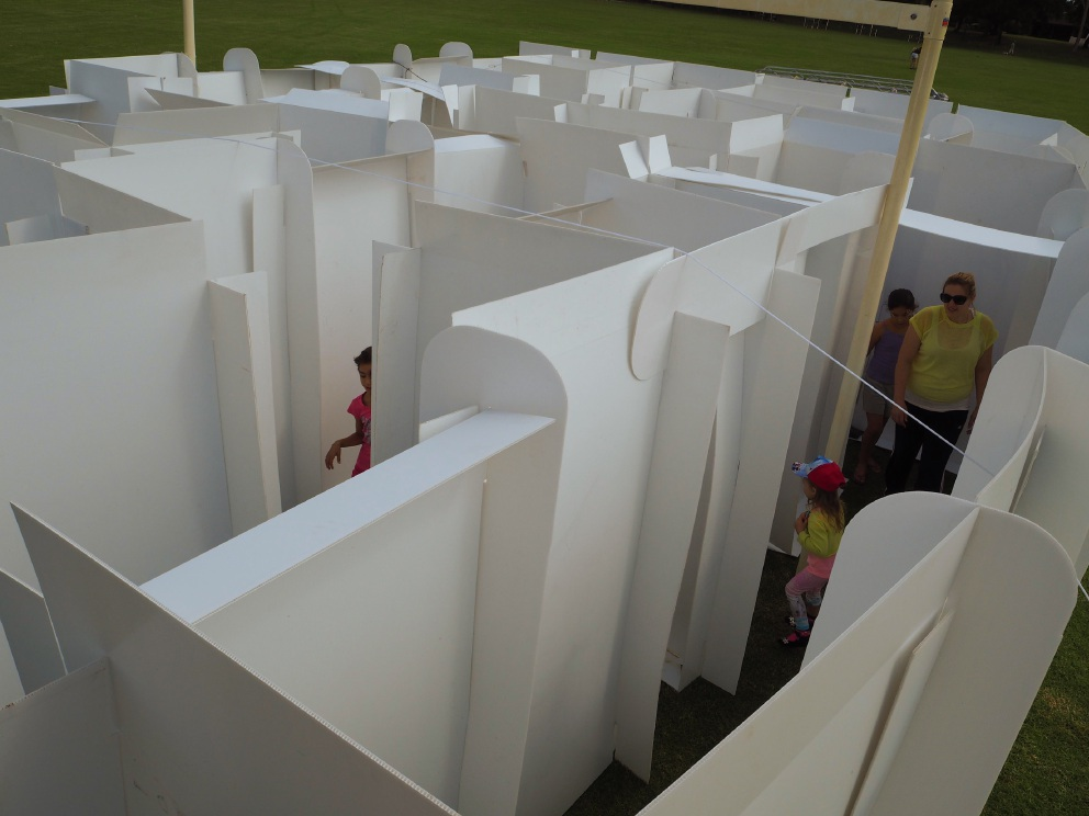 The maze was a popular attraction at the South Lake event.