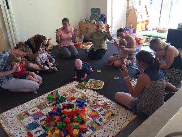 A recent play play group session at the Meerilinga Early Learning Centre in Coolbellup.