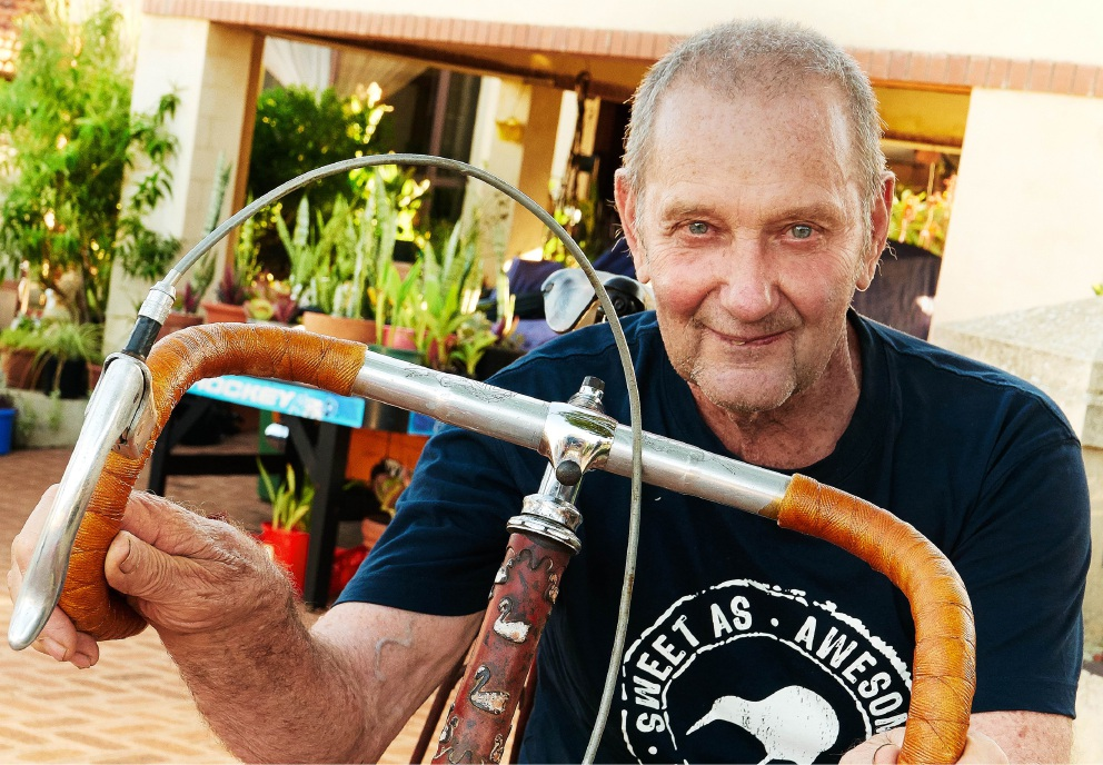 Coogee resident Frank Baldoni will display his one-off Swansea racer at the Our Hidden                    Cycling History exhibition.