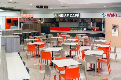 The revamped food court at the Lakes Shopping Centre.