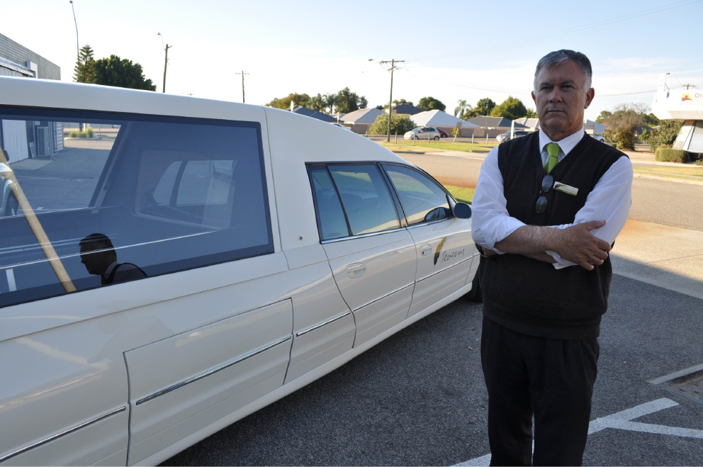 Seasons Funerals managing director Steve Erceg faces business challenges if Brearley Avenue closes.