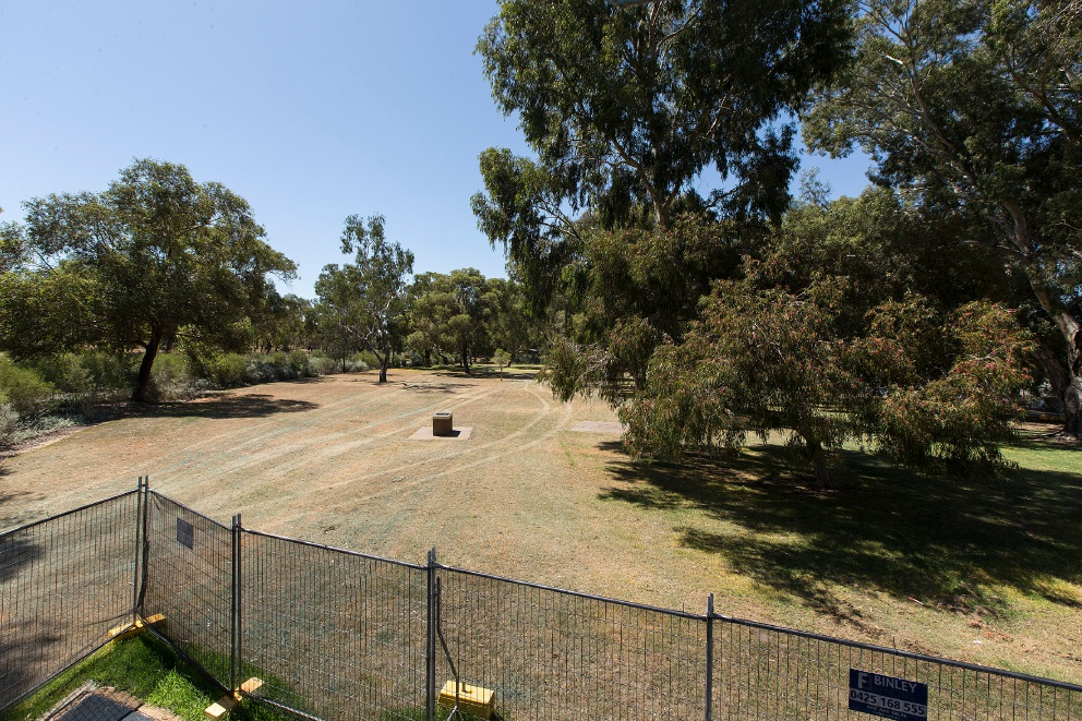 The site for the new playground.