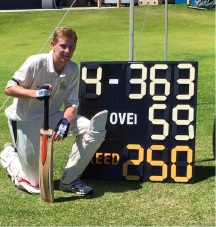 Lachlan Johns has had an outstanding season for Joondalup, here celebrating his 250.