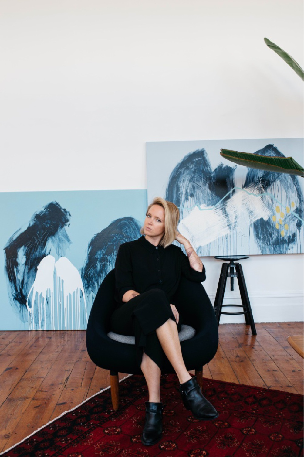 Artist Anya Brock has taken a more subdued style for her latest collection.