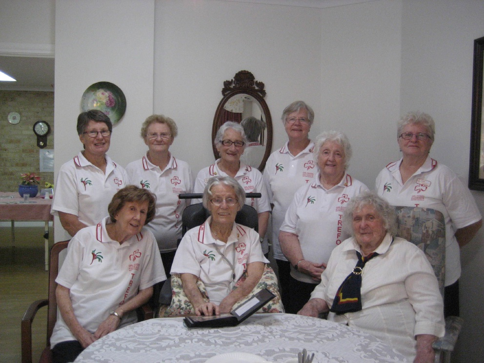 Marjory Cobb (front centre) and daughter Helen Doney (back left) with fellow Trefoil Guild members.