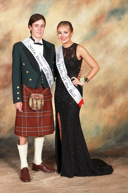 Robert Burnett and Mollie Hills, who won Beau and Belle of the ball. Picture: Paul's Photographic Presentations