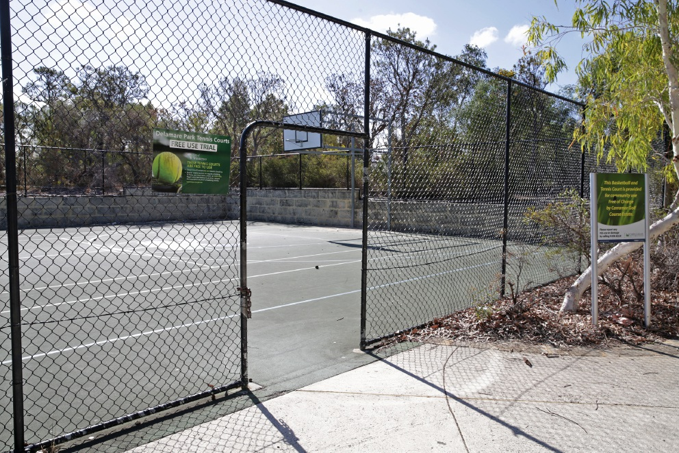 Delamare Park in Banksia Grove is one of many courts that will remain free to the public.        d450894