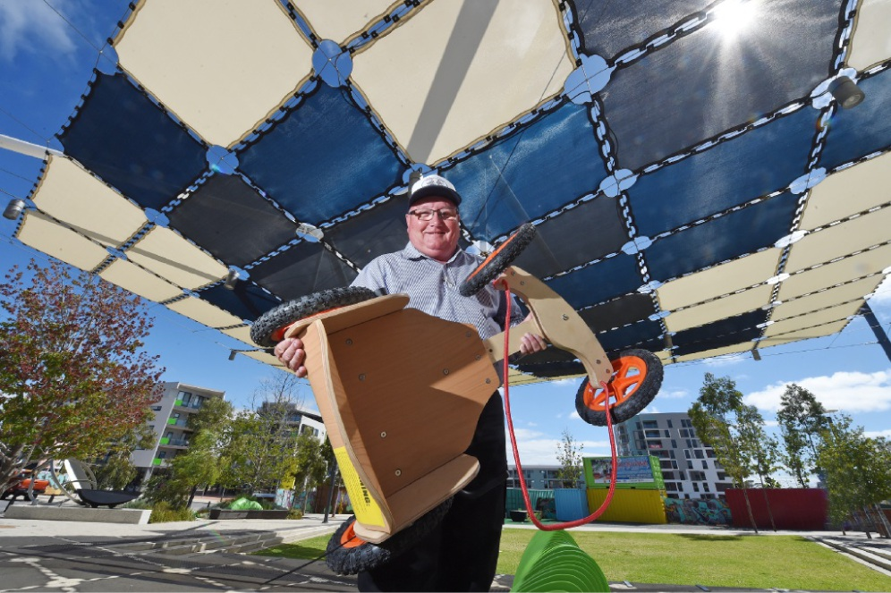 Event co-ordinator Doug Weir says Cockburn Central's Billy Cart day will raise money for the Eating Disorders Unit at PMH. Picture: Jon Hewson www.communitypix.com.au   d450609